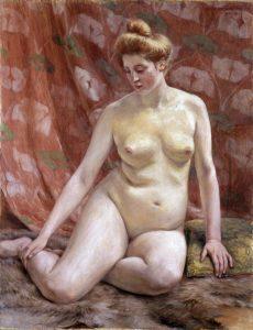 黒田清輝「裸体婦人像」 明治34年(1901)静嘉堂文庫美術館蔵【全期間展示】