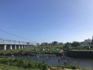 兵庫橋からみた二子玉川の水辺